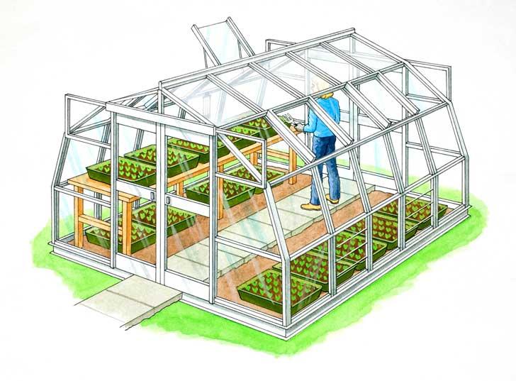 Ortaggi in serra fai da te in giardino for Costruire serra legno
