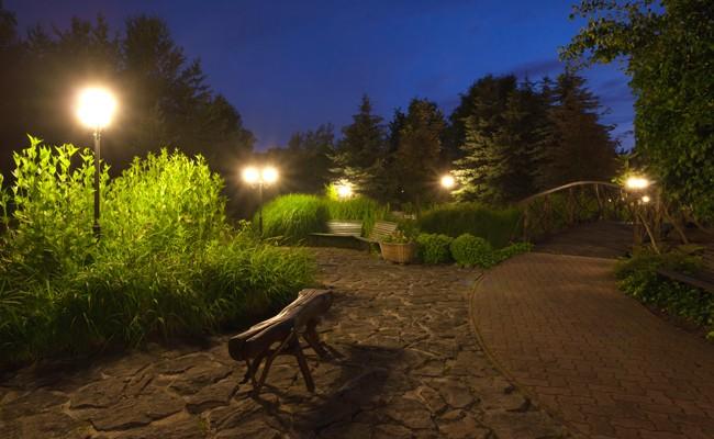 lampioni da giardino fai da te in giardino