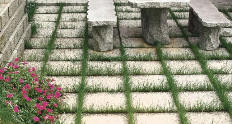 Piastre da giardino in cemento