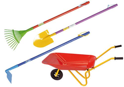 Colorati attrezzi da giardino per bambini verdemax - Attrezzi da giardino per bambini ...