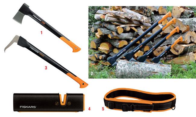 attrezzi speciali per legno, attrezzi per legno, attrezzi per boschi, asce, attrezzi da boscaiolo, fiskars