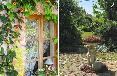 foto di scorci del giardino di Camilla