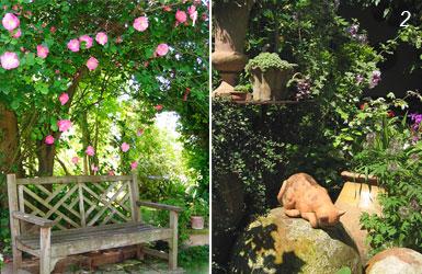 foto di arredi del giardino di Camilla