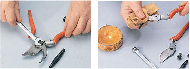 manutenzione delle cesoie