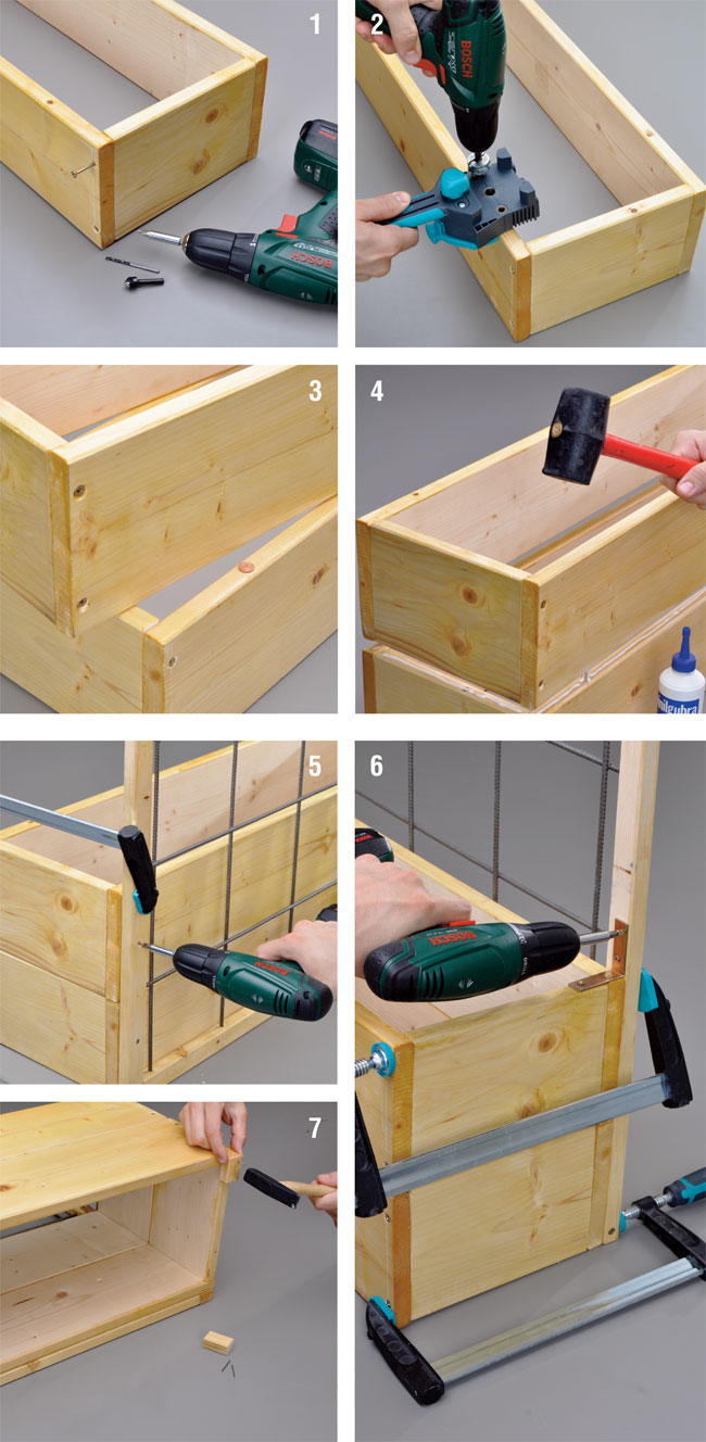 Costruire una fioriera con spalliera di legno for Fioriera legno fai da te