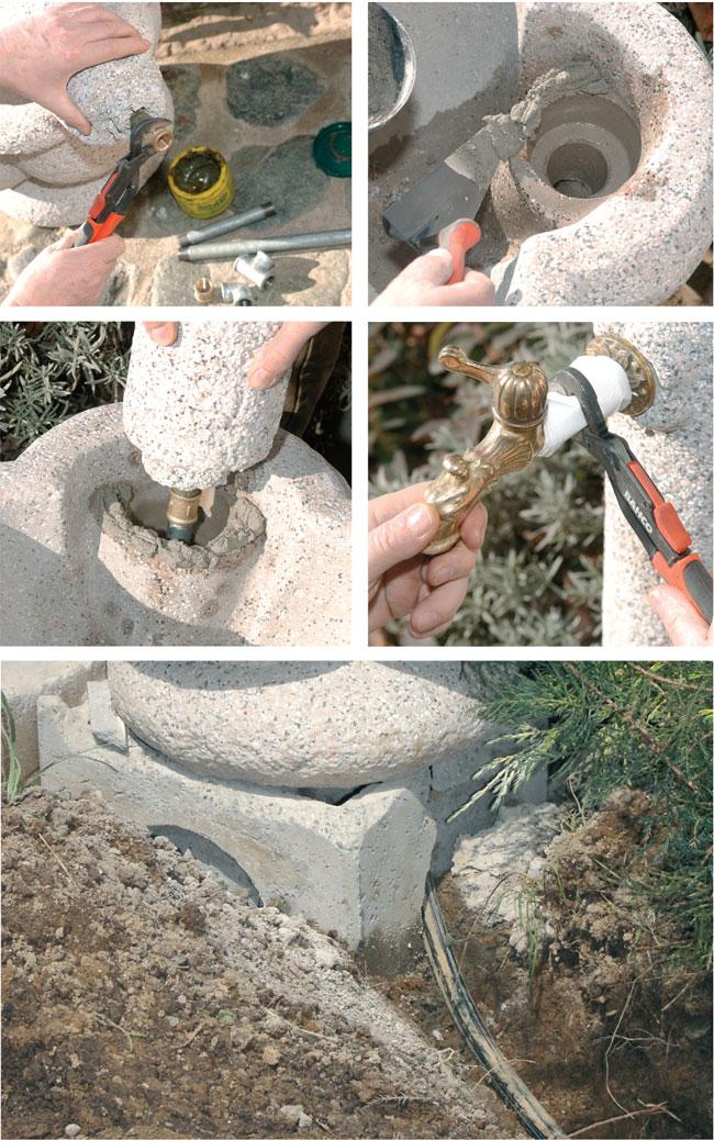 installazione fontana giardino