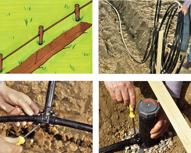 Impianto di irrigazione interrata fai da te in giardino for Costo impianto irrigazione interrato