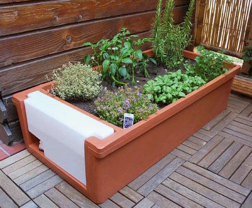 orto sul terrazzo per coltivare erbe aromatiche e piccoli
