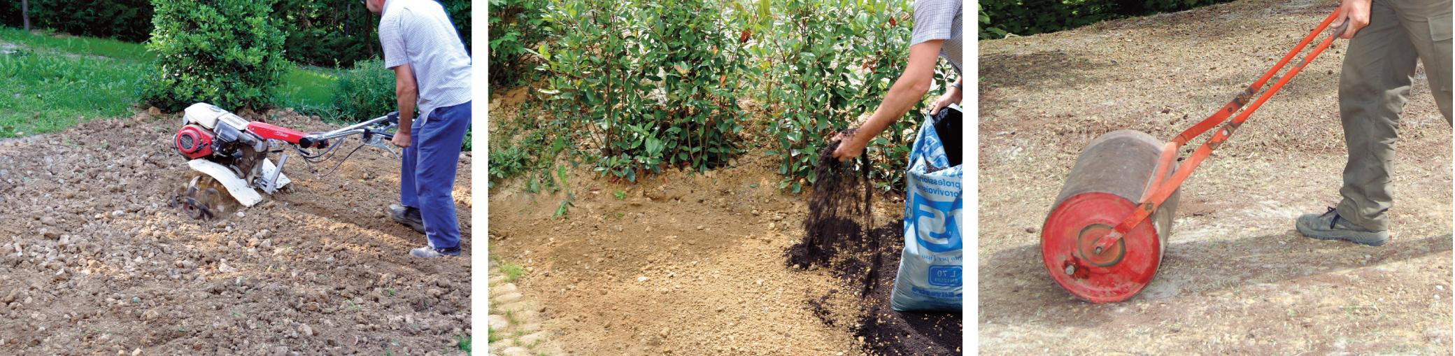 Prato a rotoli preparazione terreno confortevole for Prato erboso a rotoli