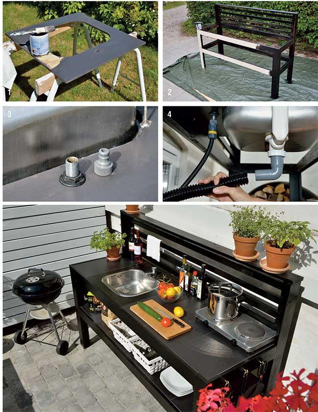 tavolo da giardino fai da te con cucina | tutti i passaggi - Fai Da Te Mobili Da Giardino Esterno