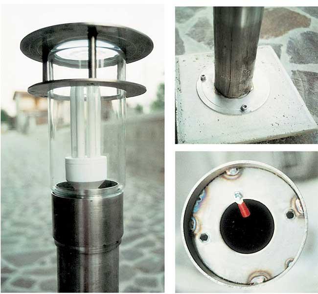 lampada da giardino autocostruita