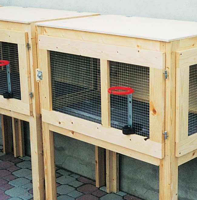 gabbia per conigli fai da te 3