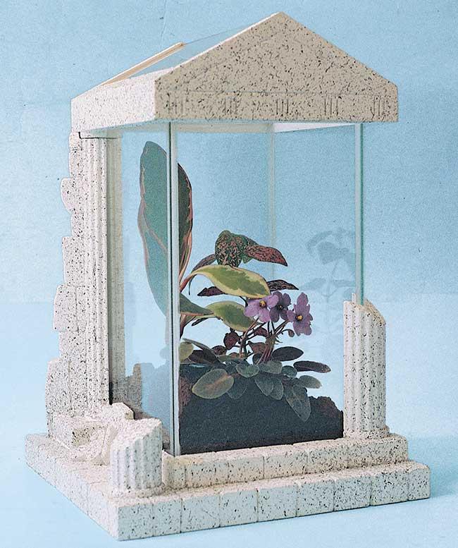 Mini serra fai da te | Come costruirla a forma di tempio greco