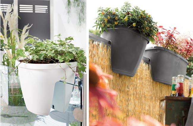 vasi da ringhiera con riserva d 39 acqua fai da te in giardino