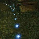 Faretti segnapasso a led per il giardino