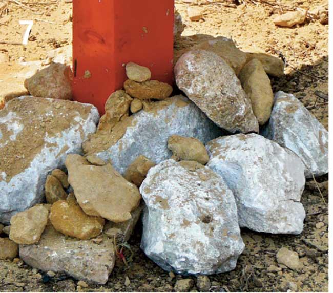 stabilizzaziione basamento con pietre