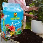 Compo sana facile | Terriccio per piante con packaging facile da trasportare