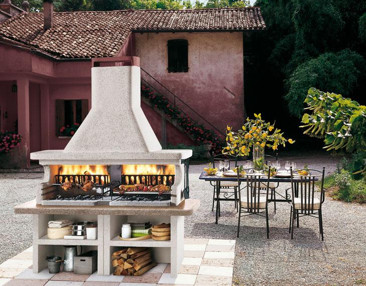 Cucine da esterno piani cottura barbecue e arredi per - Barbecue da esterno ...