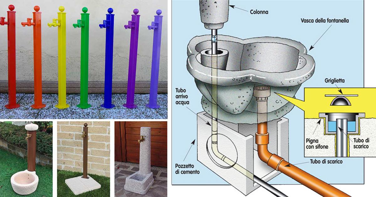 Come Costruire Una Fontana In Cemento.Fontane Da Giardino Quali Scegliere E Come Si Installano Fai Da Te