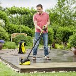 Come lavare a pressione cortili, viali e pareti di pietra o di legno