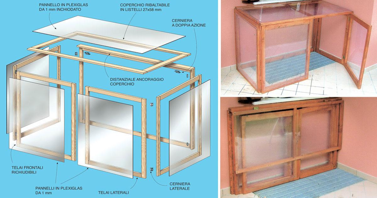 Mini serra fai da te ripiegabile per balcone o terrazzo for Costruire serra legno