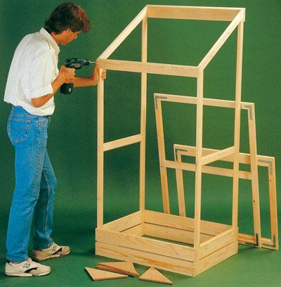 serra da balcone in legno