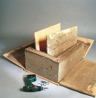 costruzione fioriere in cemento