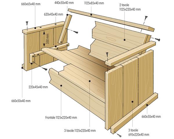Divano in legno fai da te per il balcone - Divano in legno fai da te ...