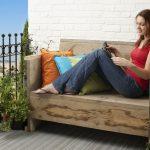 Divano in legno fai da te per il balcone