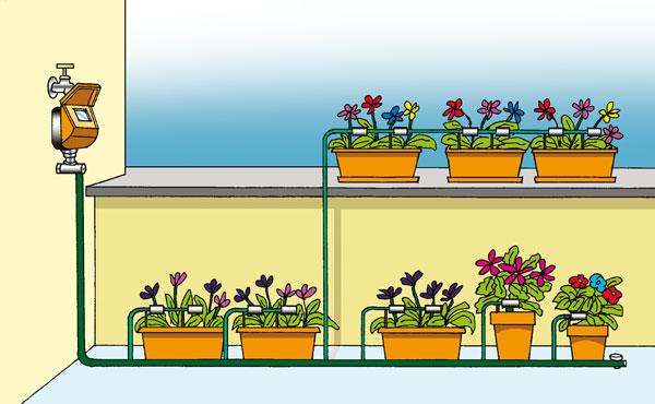 Irrigazione sul terrazzo | Con o senza rubinetto grazie ai serbatoi ...