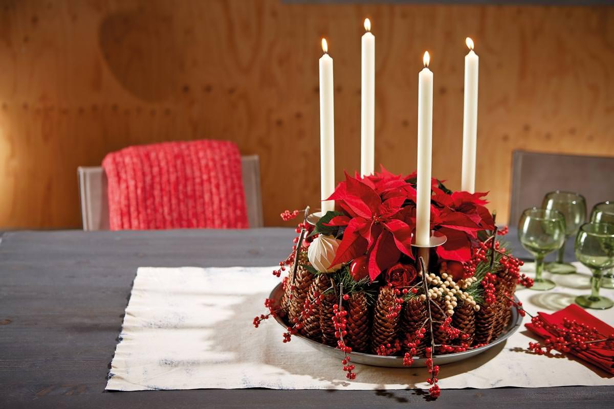 Candele Da Giardino Fai Da Te : Centrotavola pigne candele e stella di natale fai da te in giardino