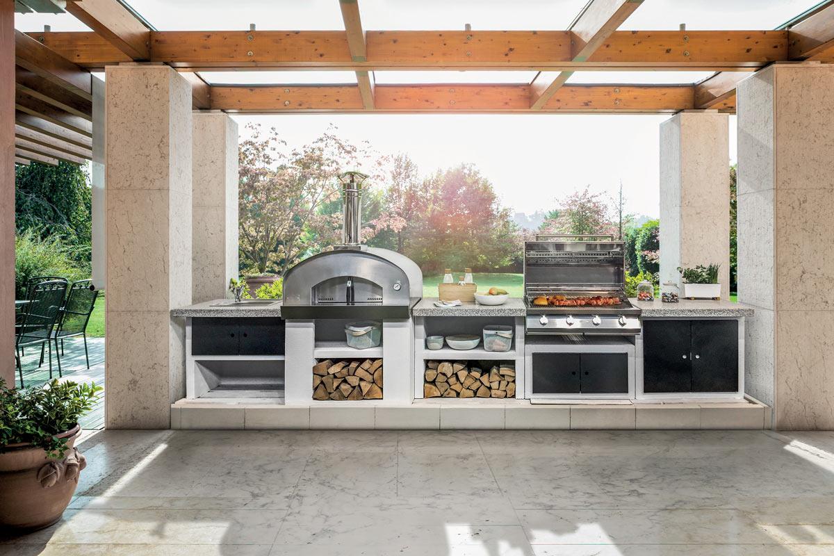Cucina modulare da esterno | Cookie di Palazzetti - Fai da ...