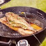 Trota affumicata su barbecue per cottura indiretta Weber