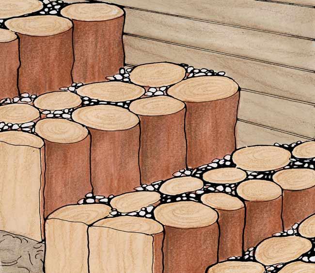 scala con pali