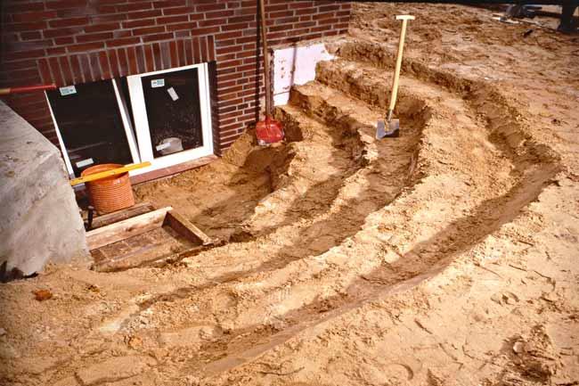 scavo scale per giardini